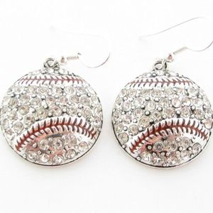 Baseball Fashion Silver Earrings